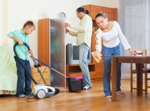Spring cleaning tips - Get The whole family involved - Jake's Moving And Storage