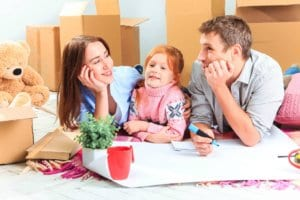 Preparing for packing services with the family - Jake's Moving and Storage